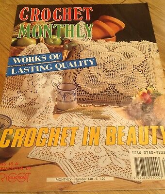 Vintage Crochet Monthly Magazine No 148 Crochet Patterns Doilies