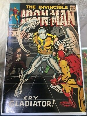 Marvel Comics Silver Age Iron Man #7! 1st Appearance Of The Gladiator! Infinity