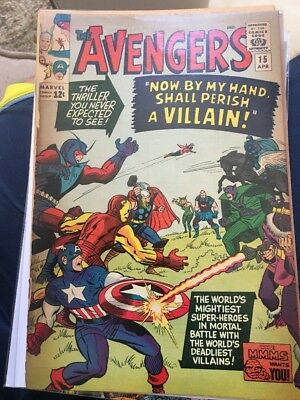 Marvel Comics Avengers #15! Silver Age vs The Masters Of Evil! Ant Man Wasp Cap!