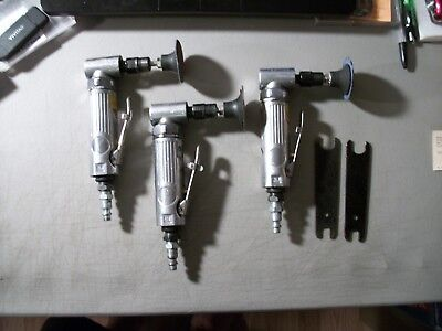 Lot Of 3 Pneumatic Right Angle Die Grinder Air Tool 1-Florida & 2-Work Smart