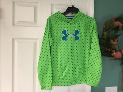 Kids Girls Under Armour LOOSE Green & Blue Pullover Size YXL (CON12)