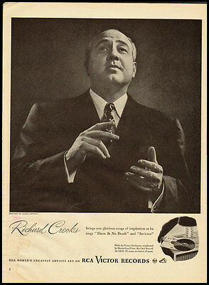 1946 vintage ad for RCA Victor Records with Richard Crooks -39