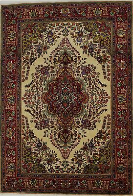 Captivating S Antique Colorful Rare Ivory Oriental Rug Persian Area Carpet 7X10