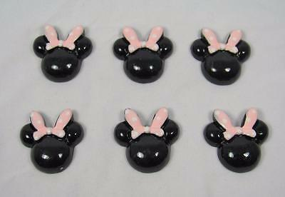 BB FLATBACKS MINNIE MOUSE LIGHT PINK BOW bulk pk of 10 resin SPECIAL