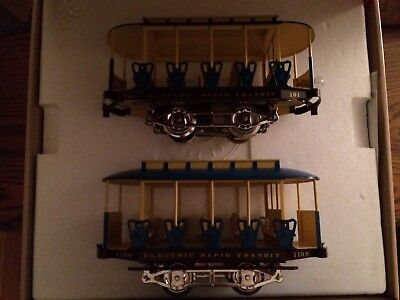 Lionel 13113 Standard Gauge Trolley Powered #101 & Trail Car #1100  New in Box!!