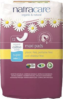 Natracare - Super Maxi Pads - 12 count