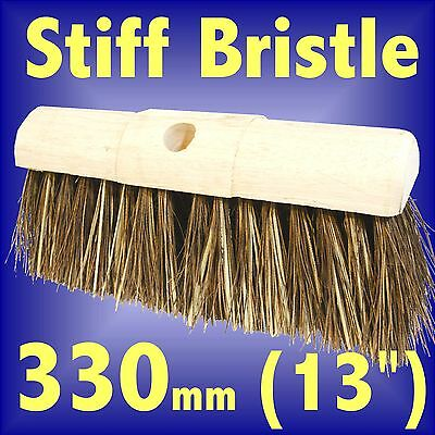 Silverline Stiff Bristle Saddleback Yard Brush 330mm 13 hard sweeping broom