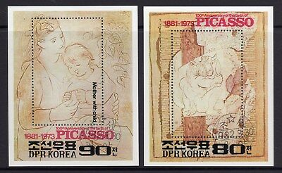 1982 Korea SG N MS 2162 Picasso Set of 2MS Fine Used