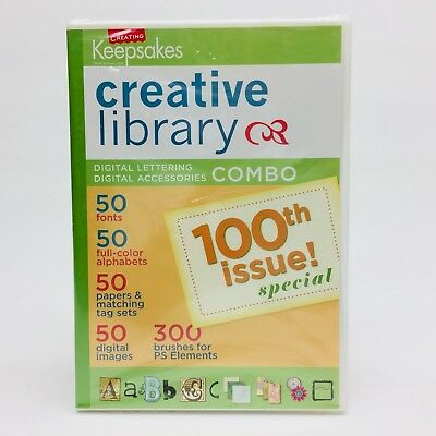 Creating Keepsakes Creative Library Digital Lettering CD for PhotoShop Elements