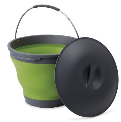 Companion Pop Up Bucket With Lid (Green)