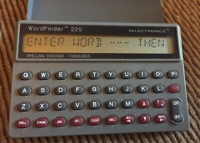 Wordfinder 220 Electronic Spelling Checker Thesaurus