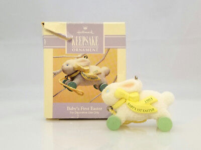 Hallmark Spring Ornament 1993 Baby's First Easter - 1st Easter - #QEO8345-DB