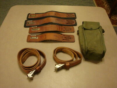 Lineman Pole Climbing Leg LEATHER STRAPS For Gaffs/Spikes Atlas Safety, Melrose