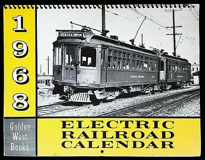 Golden West Books 1968 Electric Railroad Calendar - Trolley Photos FREE SHIPPING