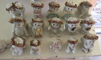 Lot of 16 Dreamsicles Cast Art Signed by Kristin 90'S Good condition