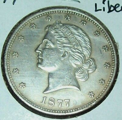 1877 Pattern Coin Silver Half Dollar Fantasy Issue Copy Paquet Liberty