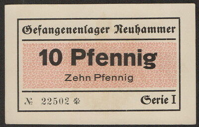 GERMANY POW Camp (C3336) 10 Pfennig ND aUNC+ NEUHAMMER