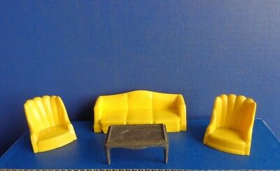 Vintage Plasco Living Room Sofa, Chairs, Table- Mid Century