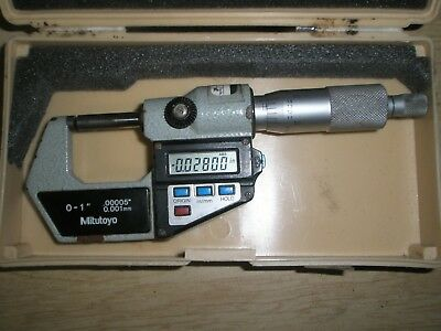 "Mitutoyo 0 -1"" Digital Micrometer Model 293-721-10 with case"