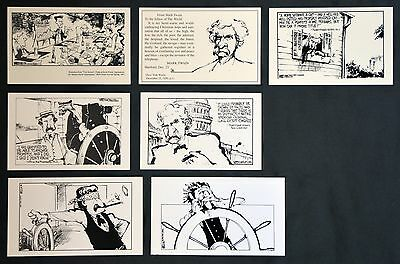 Lot of 7 Vintage BILL WATTERSON Kodachrome Postcards for MARK TWAIN JOURNAL