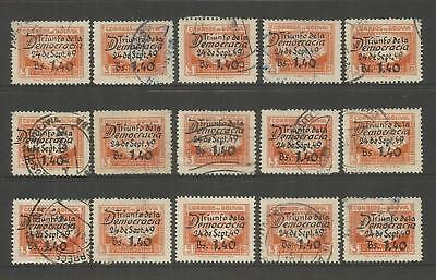 """Bolivia ~ 1950 Air Mail """"triumph Of Democracy"""" Used"""