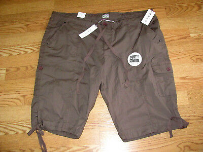 NWT $44  DASH Tummy Control LONGER Walking CARGO Shorts Womens 22W  2X