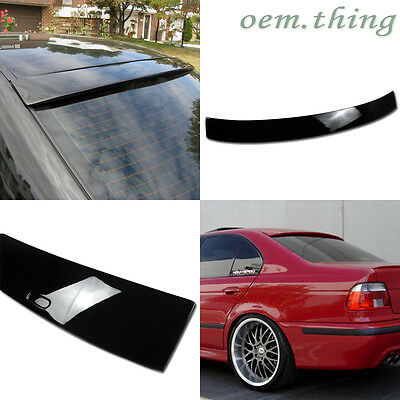 Painted 97 99 03 For BMW E39 5-series A Type Window Rear Roof Spoiler 668 black