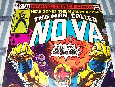 Marvel Comics' The Man Called NOVA #25 Final issue from May 1979 in Fine con.