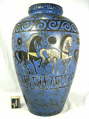 "BEAUTIFUL 60´s WGP CERAMANO ""PERGAMON"" FLOOR VASE HANS WELLING DESIGN 106 / 2"