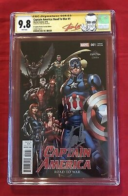 Captain America: Road to War #1 El Capitan Variant CGC 9.8 Signed by Stan Lee