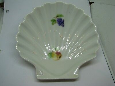 Chamart ,France Shell Shaped Porcelain Soap Dish With Fruit