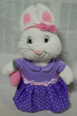 "Max & Ruby RUBY BUNNY RABBIT IN PURPLE DRESS 9"" Plush STUFFED ANIMAL Toy"