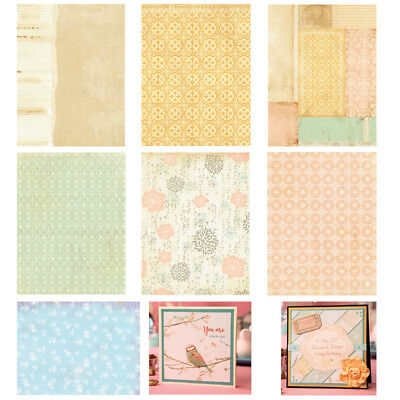 14PCS Craft Paper DIY Photo Album Background Card Making Scrapbooking Decor