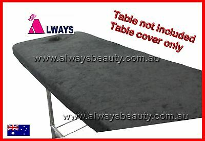 Massage Table BLACK TOWELLING COVER for Protection Beauty Bed Couch