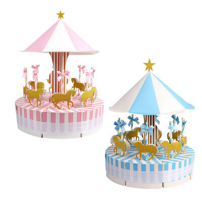 Ribbon Carousel Candy Box Sweets Gift Boxes Wedding Party Baby Shower Favors