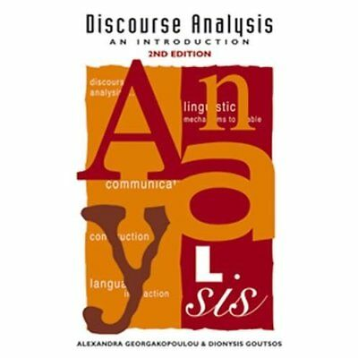 Discourse Analysis: An Introduction - Hardcover NEW Georgakopoulou, 2004-07-05