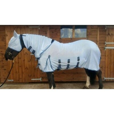 Sheldon Horse Pony Fly Rug With Fixed Neck Combo Belly