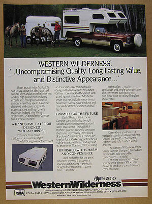 1987 Western Wilderness Alpine Truck Camper color photo vintage print Ad