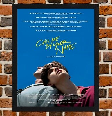 Framed Call Me By Your Name Film Poster A4 A3 Size In Black