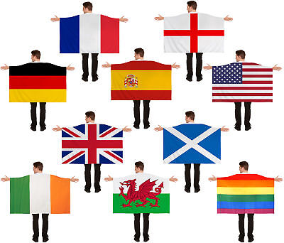 Adults Wearable Flag Cape National Pride Supporters Sports Lgbt+ Fancy Dress