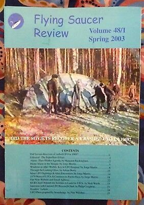 FLYING SAUCER REVIEW MAGAZINE Vol 48 No.1 2003 Crashed UFO in Russia FSR Aliens