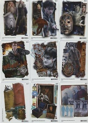 Harry Potter 9 Deathly Hallows Part 2 Clear Cards BC1-BC9 Full Set