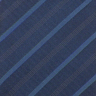HUGO BOSS RED LABEL Navy Turquoise Gray STRIPED Woven Silk SKINNY Tie NWOT