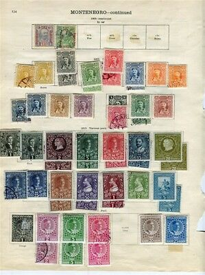 MONTENEGRO; 1890s-1910 fine early range of mint & used values on pages