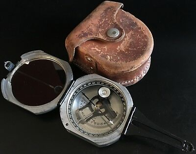 D.W. Brunton 1926 Aluminum Pocket Transit Compass by Wm. Ainsworth & Sons #18932