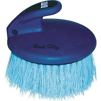 Bitz Palm-held Dandy Brush Medium Bristles Blue - Palmheld Horse Grooming