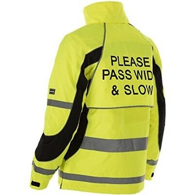 Equisafety Inverno Reflective Jacket Small Yellow - Unisex Wear All Sizes Horse