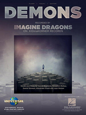 Demons Song By Imagine Dragons Piano Vocal Sheet Music Guitar Chords