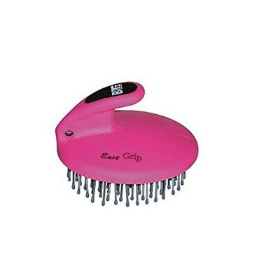 Bitz Palm-held Mane & Tail Brush Pink - Palmheld Horse Grooming Designed Fit