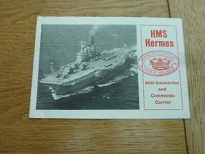1977 Hms Hermes Commando Carrier Small Promotional Booklet 8 Page